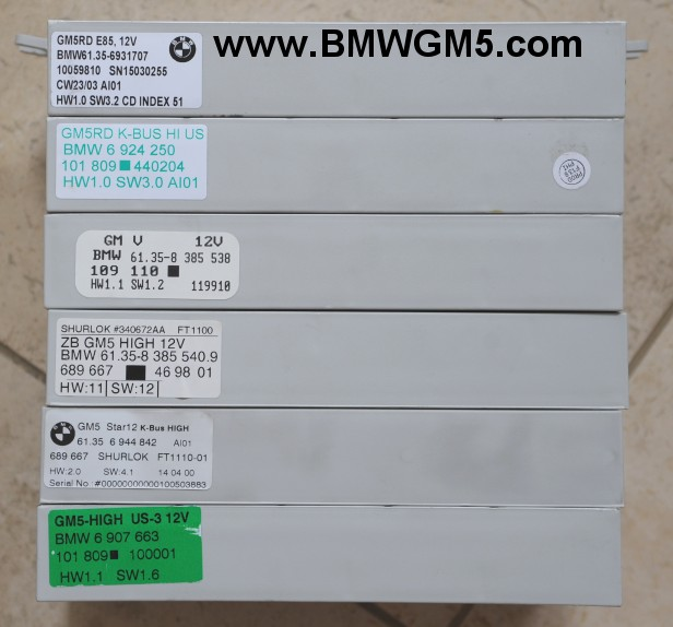 Bmw General Module 5 Gm5 Part Numbers