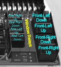 bmw e46, e83-x3, e52-z8 gm5 front window relays v23078-c1002-a303, Wiring diagram